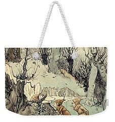 Elves In A Wood Weekender Tote Bag by Arthur Rackham