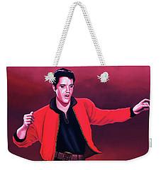 Elvis Presley 4 Painting Weekender Tote Bag by Paul Meijering