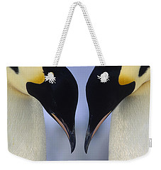 Emperor Penguin Family Weekender Tote Bag by Tui De Roy