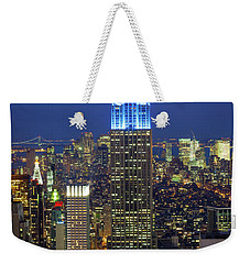 Empire State Building Weekender Tote Bag by Inge Johnsson