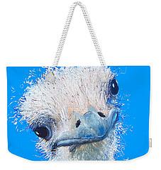 Emu Painting Weekender Tote Bag by Jan Matson