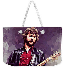 Eric Clapton Painting Weekender Tote Bag by Scott Wallace
