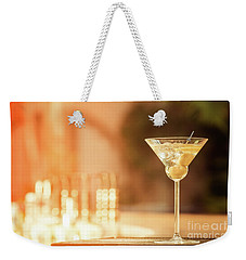 Evening With Martini Weekender Tote Bag by Ekaterina Molchanova