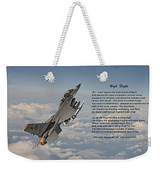 F16 - High Flight Weekender Tote Bag by Pat Speirs