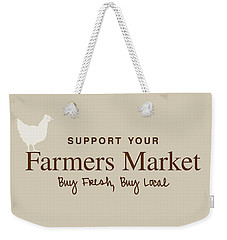 Farmers Market Weekender Tote Bag by Nancy Ingersoll