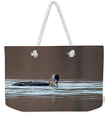 Feeding Common Loon Weekender Tote Bag by Bill Wakeley