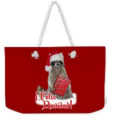 Feliz Navidad - Raccoon Weekender Tote Bag by Gravityx9  Designs