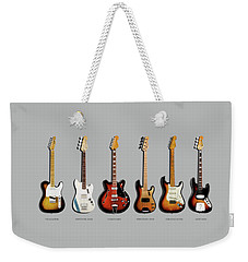Fender Guitar Collection Weekender Tote Bag by Mark Rogan
