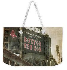 Fenway Park Billboard - Boston Red Sox Weekender Tote Bag by Joann Vitali