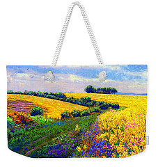 Fields Of Gold Weekender Tote Bag by Jane Small