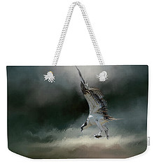 First Catch Of The Morning Osprey Art By Jai Johnson Weekender Tote Bag by Jai Johnson