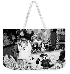First Lady Eleanor Roosevelt And Santa Weekender Tote Bag by Science Source