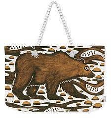 Fishing Bear Weekender Tote Bag by Nat Morley