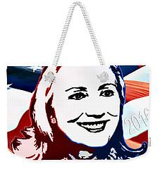 Flag Of Hillary Weekender Tote Bag by Jost Houk