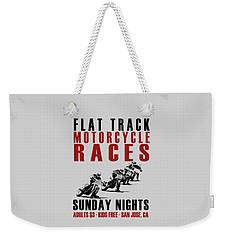 Flat Track Motorcycle Races Weekender Tote Bag by Mark Rogan