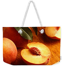 Flavorcrest Peaches Weekender Tote Bag by Photo Researchers