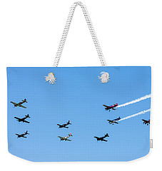 Fly Me To The Moon Weekender Tote Bag by Marco Oliveira