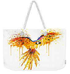 Flying Parrot Watercolor Weekender Tote Bag by Marian Voicu