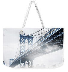 Fog Under The Manhattan Weekender Tote Bag by Az Jackson