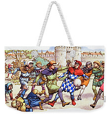 Football In The Middle Ages Weekender Tote Bag by Pat Nicolle