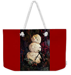 Forest Snowman Weekender Tote Bag by Lois Bryan