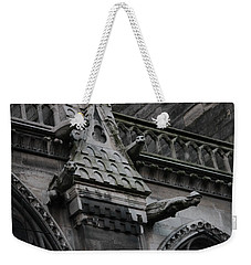 Four Gargoyles On Notre Dame North Weekender Tote Bag by Christopher Kirby