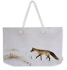 Fox In Snow Weekender Tote Bag by Jane Neville