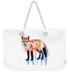 Fox  Weekender Tote Bag by Marian Voicu