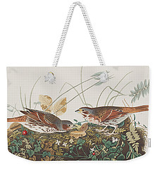 Fox Sparrow Weekender Tote Bag by John James Audubon