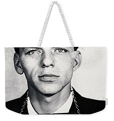 Frank Sinatra Mug Shot Vertical Weekender Tote Bag by Tony Rubino