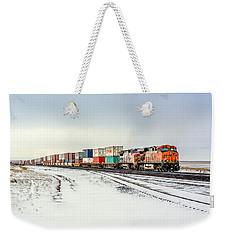 Freight Train Weekender Tote Bag by Todd Klassy