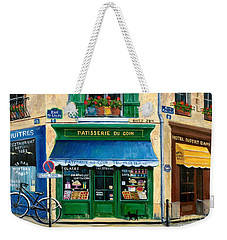 French Pastry Shop Weekender Tote Bag by Marilyn Dunlap