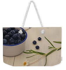 Fresh Blueberries Weekender Tote Bag by Kim Hojnacki