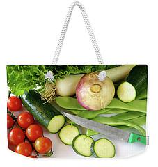 Fresh Vegetables Weekender Tote Bag by Carlos Caetano