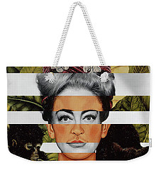 Frida Kahlo And Joan Crawford Weekender Tote Bag by Luigi Tarini