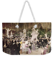 Friday At The Salon Weekender Tote Bag by Jules Alexandre Grun
