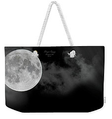 Frosty Moon November 14 2016 Weekender Tote Bag by Betsy Knapp