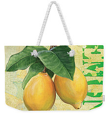 Froyo Lemon Weekender Tote Bag by Debbie DeWitt