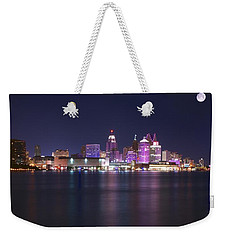 Full Moon Panorama Weekender Tote Bag by Frozen in Time Fine Art Photography