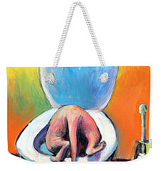 Funny Sphynx Cat Painting Prints Weekender Tote Bag by Svetlana Novikova