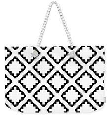 Geometricsquaresdiamondpattern Weekender Tote Bag by Rachel Follett