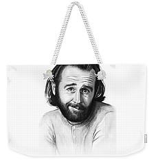 George Carlin Portrait Weekender Tote Bag by Olga Shvartsur
