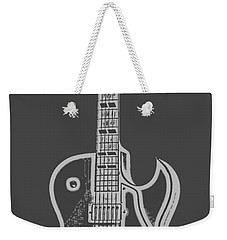 Gibson Es-175 Electric Guitar Tee Weekender Tote Bag by Edward Fielding
