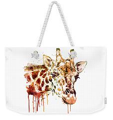 Giraffe Head Weekender Tote Bag by Marian Voicu