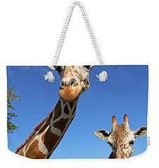Giraffes Weekender Tote Bag by Steven Sparks
