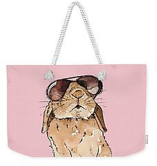 Glamorous Rabbit Weekender Tote Bag by Katrina Davis