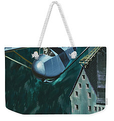 Glider Escape From Colditz Castle Weekender Tote Bag by Wilf Hardy