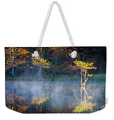 Glowing Cypresses Weekender Tote Bag by Inge Johnsson