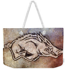 Go Hogs Go  Weekender Tote Bag by Dawn Bearden