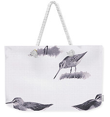 Godwits And Green Sandpipers Weekender Tote Bag by Archibald Thorburn